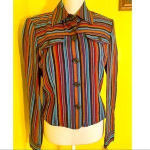 Evan Picone Button Front Shirt /Jacket. Size M